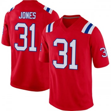 Men's Jonathan Jones New England Patriots Nike Game Alternate Jersey - Red