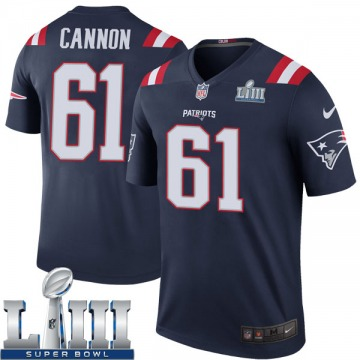Men's Marcus Cannon New England Patriots Nike Legend Color Rush Super Bowl LIII Jersey - Navy
