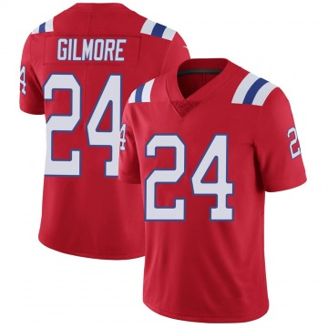 Men's Stephon Gilmore New England Patriots Nike Limited Vapor Untouchable Alternate Jersey - Red