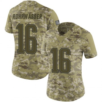 Women's Justin Rohrwasser New England Patriots Nike Limited 2018 Salute to Service Jersey - Camo