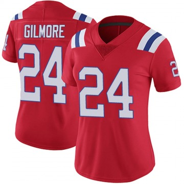 Women's Stephon Gilmore New England Patriots Nike Limited Vapor Untouchable Alternate Jersey - Red