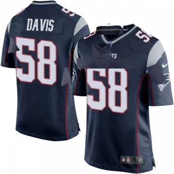 Youth Keionta Davis New England Patriots Nike Game Team Color Jersey - Navy Blue