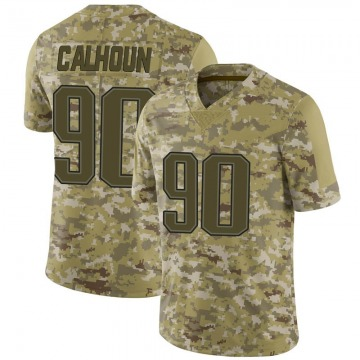 Youth Shilique Calhoun New England Patriots Nike Limited 2018 Salute to Service Jersey - Camo